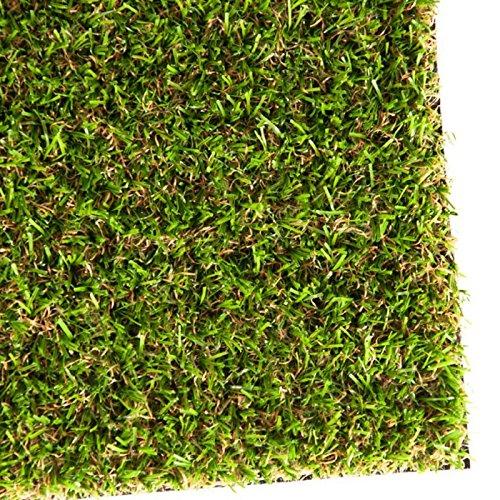 casa pura Gazon synthétique Oxford | pelouse synthétique pour terrasse, Balcon etc. | Tailles au mètre | Poids 1800g/m² - stabilisé UV Selon DIN 53387 | 200x200cm