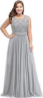 Babyonline Women Chiffon Long Mother of The Bride Dresses Plus Size Prom Dresses