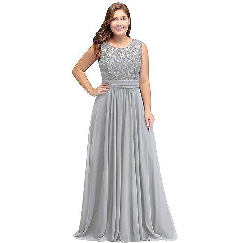 8c256a7359574 Misshow Abendkleider Elegant Spitzenkleid Chiffon Lang Abendkleid Elegant  Ball Abschlussballkleid