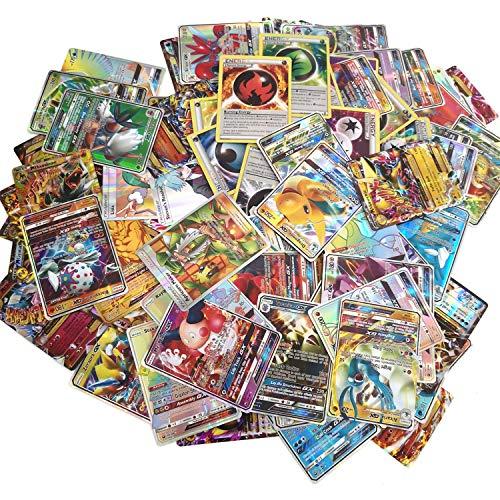 100 Pcs Carte Pokemon, Cartes Pokemon Y Compris 50 Cartes Pokemon gx 20 Énergie 20 Mega et 10 Trainer Jeux de Carte Collection pour Enfant