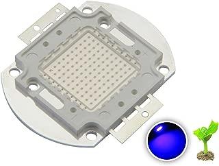 Chanzon High Power Led Chip 100W Royal Blue Plant Grow Light (440nm-450nm/3000mA/DC 30V-34V/100 Watt) SMD COB Emitter Diode Components 100 W Bead for DIY Hydroponic Aquarium Growing Lamps