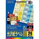 コクヨ カラーレーザー カラーコピー ラベル 光沢 24面 20枚 LBP-G6924