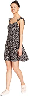 Mossimo Supply Co. Women's Floral Button Front Ruffle Sleeve Dress -Variety-