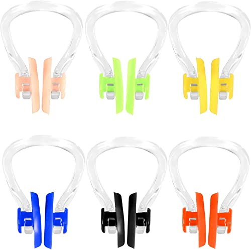 SATINIOR 6 Pieces Surfing Nose Plug Silicone Nose Clip Waterproof Nose Protector for Swimming and Training
