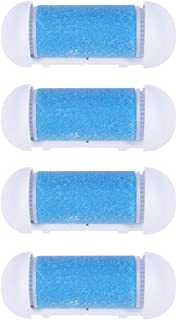 SUPVOX 4pcs Replacement Roller Refill Heads for Electronic Foot File Refill (Blue)