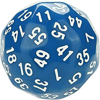 Funnygals - Digital Dice 38mm 60-Sided D60 Die for Party Role Playing Board Game Prop