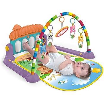 Tapis pour Activit/é Gymnastique de B/éb/é Tapis de B/éb/é avec Jouets Suspendus pour Enfants de 0-18 mois Tapis de Jeu Musical Piano de B/éb/é