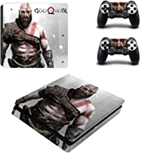 Vinyl Protective Skin Cover Sticker for PS4 Slim Console & Controller - God of War Kratos by Mr Wonderful Skin