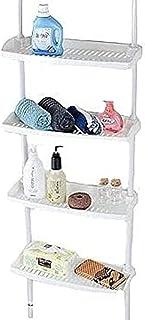 4 Tier Kitchen Bathroom Storage Shower Caddy Shelf Shelves Adjustable Height (ST-59)