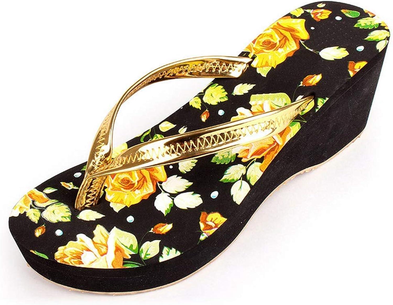 Wedge Platform Women Sandals Beach Home Flip Flops Casual shoes Comfort Slippers for Beach