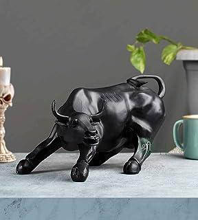 "Karigar Shop 10"" Resin Geometric Statue - Bull Sculpture Ornament Abstract Animal Figurines Room Desk Decor Home Decoratio..."