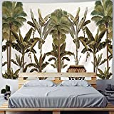 KONZFL tapizTapiz con Estampado de Plantas Tropicales para Colgar...