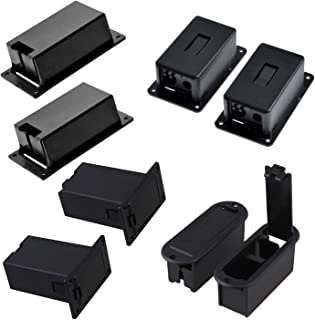 Timiy 4 Types 8pcs Black Plastic 9v Battery Holder Case BOX Base for Active Guitar Bass No Terminal