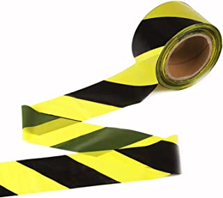 TopSoon Caution Tape Yellow and Black Striped Barricade Tape 2.8-Inch by 660-Feet Non-Adhesive Barrier Tape Caution Ribbon...