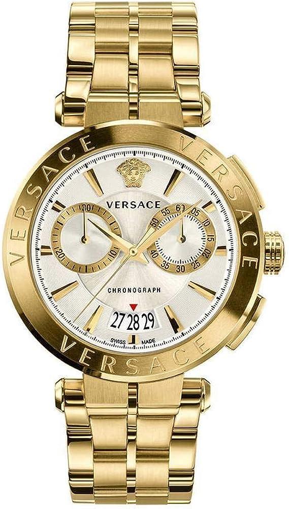 Versace orologio cronografo in acciaio inossidabile da uomo VE1D00419