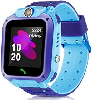 XuBa Waterproof Tracker Kids Child Watch Anti-Lost SOS Call for iOS Android Blue