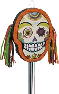 Day of the Dead Halloween Pinata, Pull String