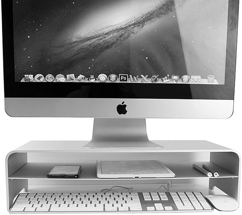 LHXHL Monitorstnder, Aluminiumstnder für Notebook-Standstnder, Doppel-Computer-Desktop-Stnder für Mac-Standfu - Silber