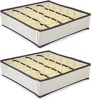 2 pièces Organisateur de Tiroir Boîte de Rangement Pliable Penderie de Rangement Diviseurs de tiroir pour sous-vètements, ...
