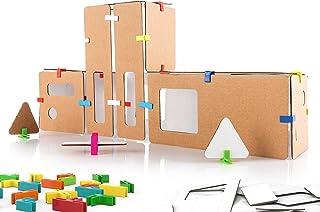3Dux/design Fire Station Architecture Set - DIY Design, Build & Paint Toy for Kids STEAM Education - 80 Easy to Assemble a...