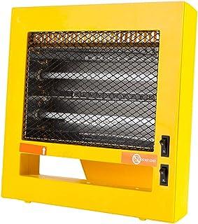 LTLJX Calefactor Eléctrico Radiador Halógeno, Calefactor Estufa de Cuarzo Calor Termostato Regulable Antivuelco Desconexión Automática para Espacio Pequeño Dormitorio Oficina Hogar(400W/800W)