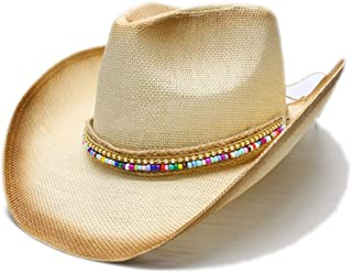 Xiang Ye Women Straw Western Cowboy Hat With DIY Handmade Weave Lady Dad Sombrero Hombre Cowgirl Jazz