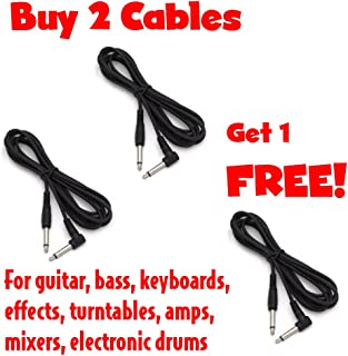 Cable Corp Buy 2 Get 1 Free 10' Molded End Right Angle To Straight Instrument Cables (SC10X-3)
