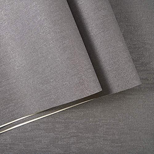 GWZSX No Tejido Papeles Pintados Simple Rollo de Papel Tapiz No Autoadhesivo Revestimientos de Pared Bar Cafetería Restaurante Fondo de Tienda de Ropa- Gris Claro