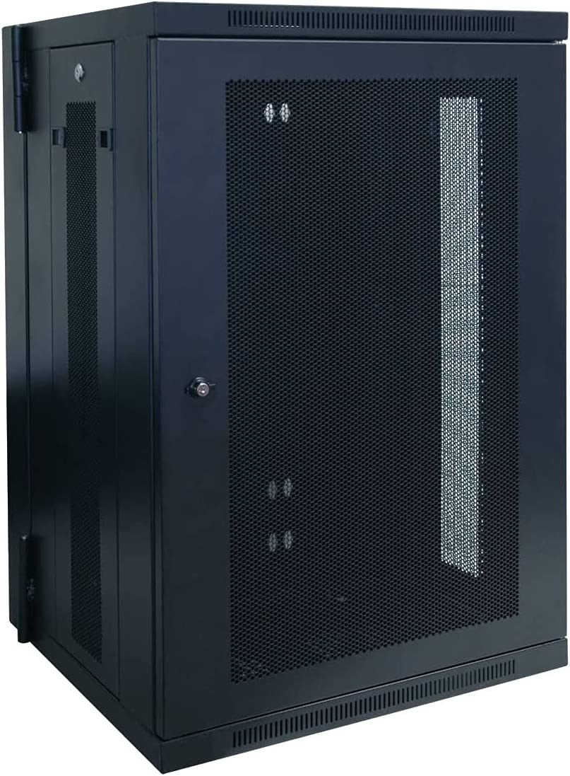 18U Wall-Mounted Rack Server Cabinet with Hinges, 20.5 inches in Depth, Switch Depth, Ships Fully Assembled (SRW18US)