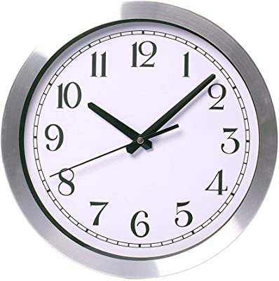 Ambiguity Wall Clocks, Aluminum Frame Mute Decoration Quartz Wall Clock Non-tick readable Clock