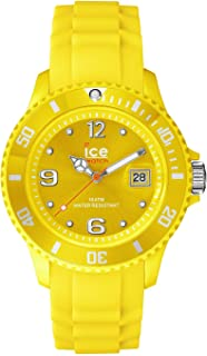 Ice-Watch Unisex SI.YW.U.S.09 Sili Collection Yellow Plastic and Silicone Watch