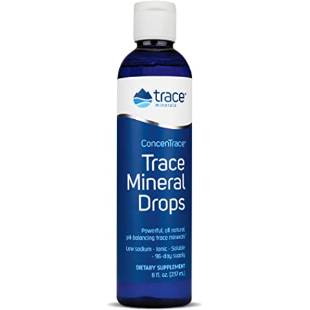 Trace Minerals Research - Concentrace Trace Mineral Drops, 8 Fl Oz liquid, Packaging may vary