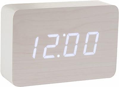 Gingko GK15W13 Digitaluhr 'Click Clock' Ziegelsteinform, Weiß mit weißer LED-Anzeige