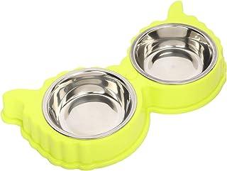 BARK N BITES Stainless Steel Anti Skid Dog Food Bowl Set for Small Medium Dog   Cat Multicolor
