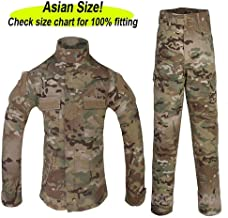ATAIRSOFT Tactical Airsoft Kids Children BDU Hunting Combat Costume Uniform Shirt & Pants Suit Multicam MC (Not American Size)
