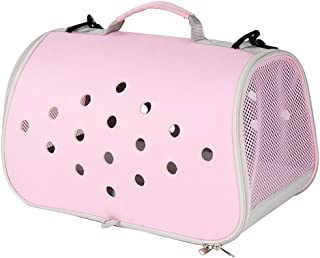 Handbag Soft Sided Pet Travel Carrier Airline Approved, Cat Carrier Medium Cats, Light Weight Dog Travel Bag, Dog Carrier for Small Dog, Durable EVA Portable Puppy Bag (Color : Pink)
