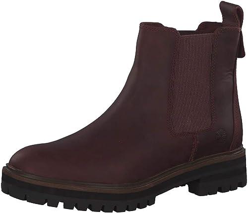 TALLA 37 EU. Timberland A1S91 Rojo Burdeos Zapatos Mujer Botas Beatles luz