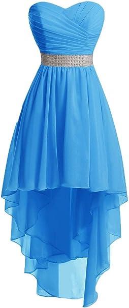 Jaeden Ballkleider Damen Brautjungfernkleid Hochzeit Partykleid Herzausschnitt Abendkleid Vorne Kurz Hinten Lang Amazon De Bekleidung