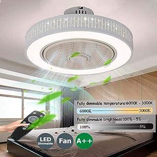 Ventilador De Techo Con Iluminación Luz LED Regulable Moderno Con Control Remoto Luces Velocidad Del Viento Ajustable Para El Dormitorio Sala De Estar Comedor Lámparas De La Habitación De Los Niños