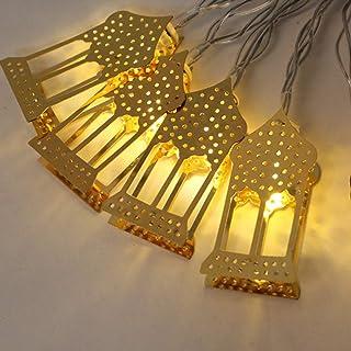 LED Muslim Ramadan Lichterkette Goldenes Schmiedeeisen Licht Dekoration fテシr Festival Party Schlafzimmer Geburtstag (Warmw...