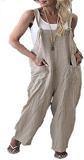 aaefbb616f8d Zabmauek Womens Overalls Casual Loose Bodyfriend Style Long Wid Pants  Jumpsuits
