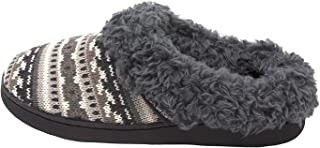 Women's Knit Clog Slipper with Faux Fur Trim