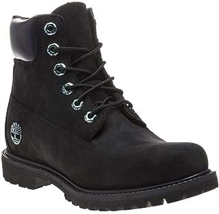 Timberland 6In Premium Boot Women's Ca21Y1 Blk Nubuck Iridescent