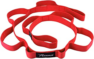 REEHUT Stretching Strap - Exercise Stretch Straps for Athletic Trainers, Physical Therapists with Loops, Ebook, Carrying Bag