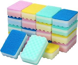 台所用 スポンジ キッチンスポンジ スポンジ たわし 洗う 磨く 使い分けができる 両面タイプ 20個 抗菌 食器・調理器具用 業務用