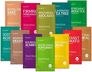 Sheet mask by Glam Up Facial Sheet Mask BTS Combo-The Ultimate Supreme Collection for Every Skin Condition Day to Day Skin Concerns. Nature made Freshly packed Original Korean Face Mask 12sheets