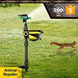 KKmoon Lawn Sprinkler, Solar Powered Motion Activated Animal Repeller Garden Sprinkler with Automatic Rotating Lawn Irrigation System Adjustable Large Area