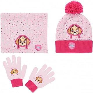 5ac4d69b579f1 La Pat' Patrouille Ensemble Snood, bonnet et gants enfant fille Rose de 3 à