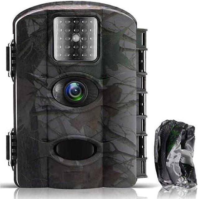 Fantasky Cámara de Caza 16MP 1080P Cámara de vigilància de la Vida SilvestreCámara de Juego de detección Nocturna sin LED de Brillo Diseño Impermeable IP65
