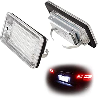 iJDMTOY OEM-Fit 3W Full LED License Plate Light Kit For Audi A3 S3 A4 S4 A5 S5 A6 S6 A8 S8 Q7, Powered by 18-SMD Xenon White LED & Can-bus Error Free